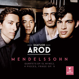 カルテット・アロド 『Mendelssohn』 気鋭の弦楽四重奏団、知的かつ繊細にメンデルスゾーンを奏でるデビュー盤