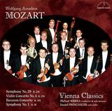 ウィーン・クラシックス、ミヒャエル・ウェルバ、ダニエル・フロシャウアー 『モーツァルト:ファゴット協奏曲 交響曲 第29番 他』 少人数編成なので、より細かいディテールまで楽しめる