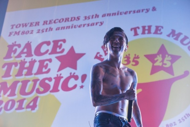 Dragon Ash、ACIDMAN、MWAMら同世代勢が激突! タワー35周年×FM802 25周年記念宴〈FACE THE MUSIC! 2014〉をレポ